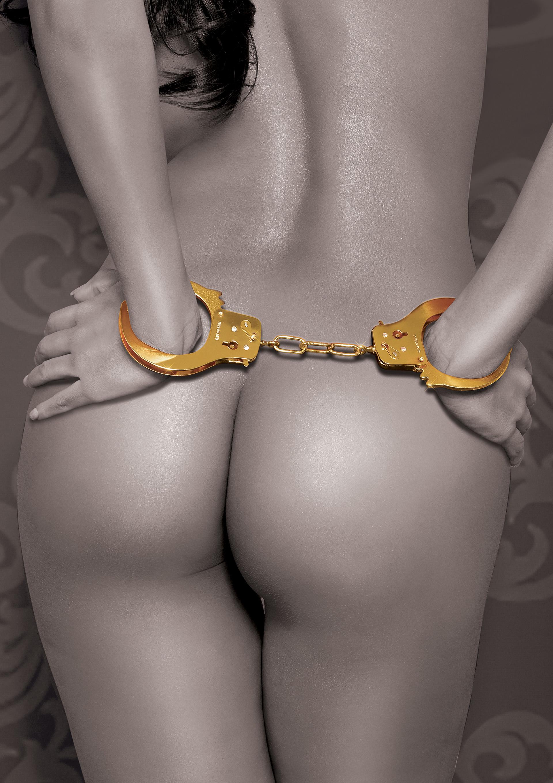 Fetish Fantasy Gold Metal Cuffs.